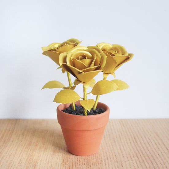 Animal Crossing Inspired Gold Rose