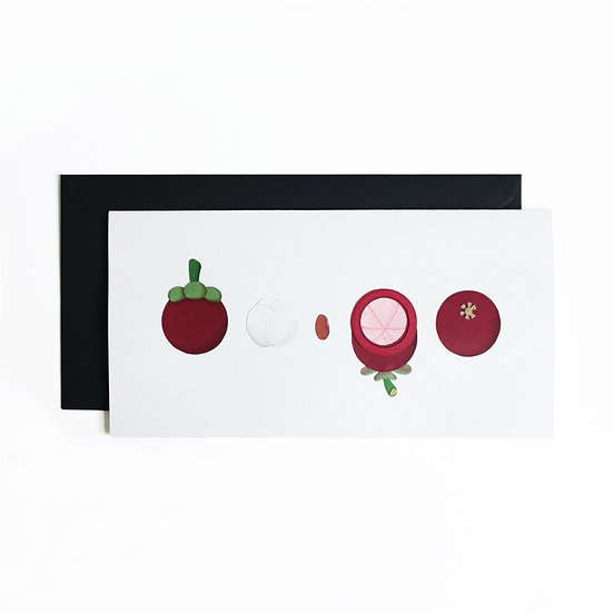 Mangosteen Greeting Card