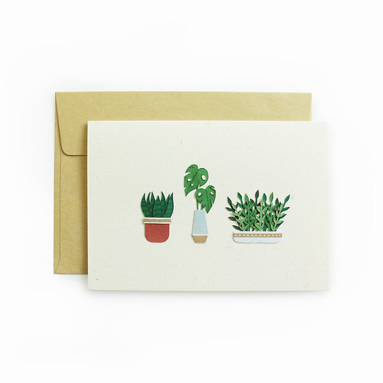 A6 Mini Plants Card 1
