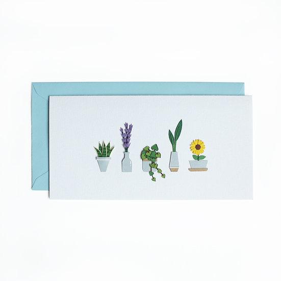 Long Mini Plants Greeting Card 2