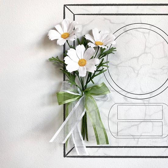 White Cosmos Mini Bouquet
