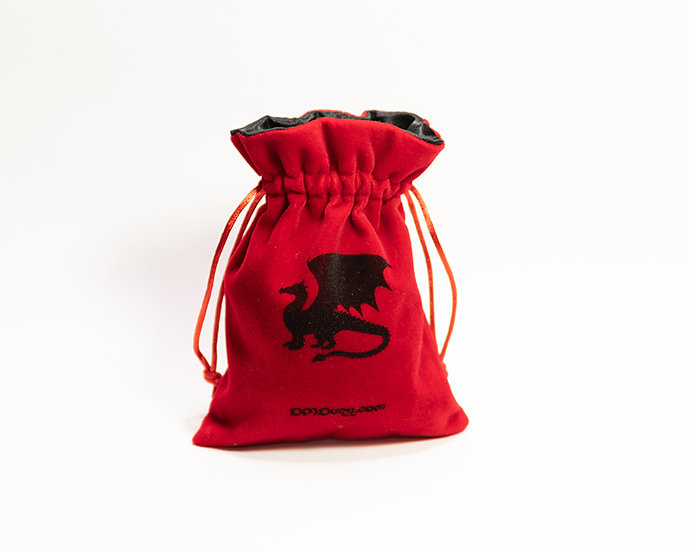 Bag of Potion Holding / Dice Bag - Choice of Black or Gold Interior