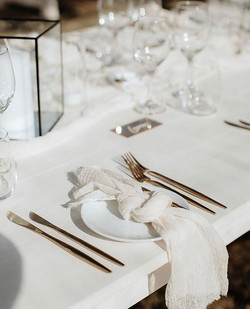 White Timber Tables