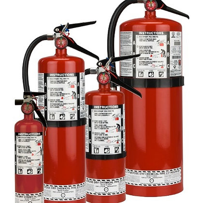 New Fire Extinguishers
