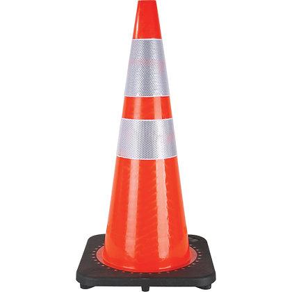 """Traffic Cone, 28"""", Orange, 4"""" & 6"""" Reflective Collar(s)"""