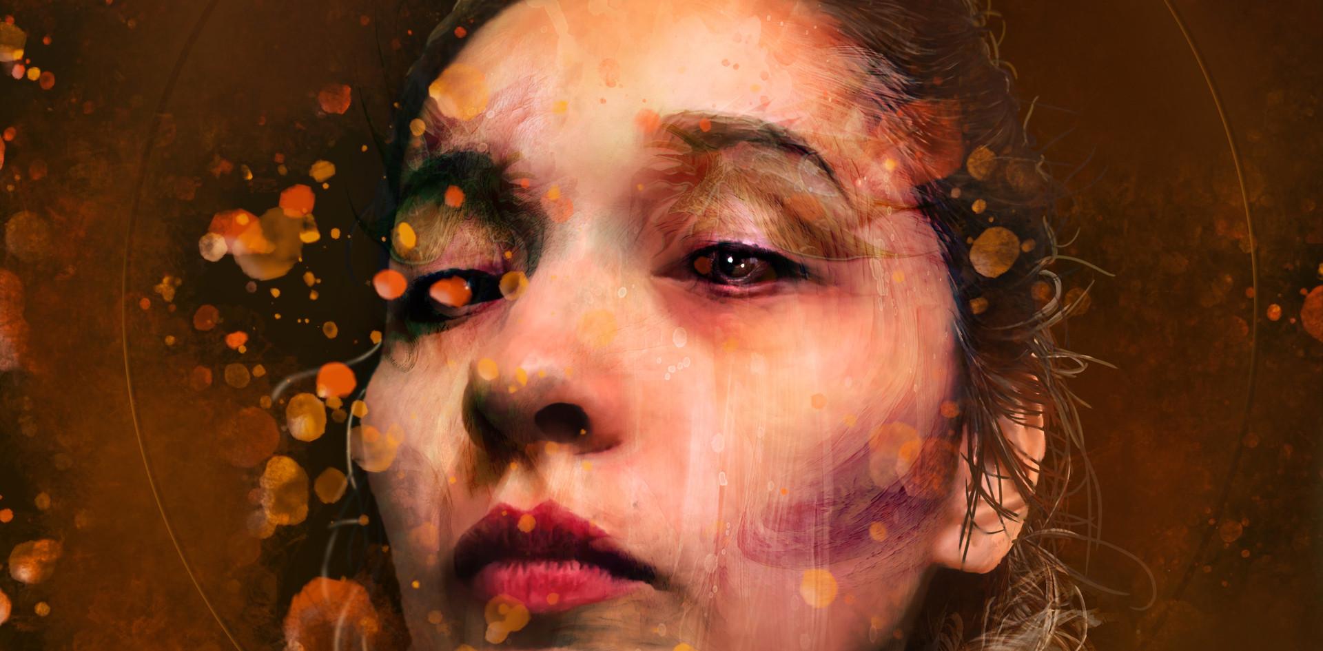 """""""Self-Portrait"""". 2019. Digital Paint. 8"""" X 12""""."""