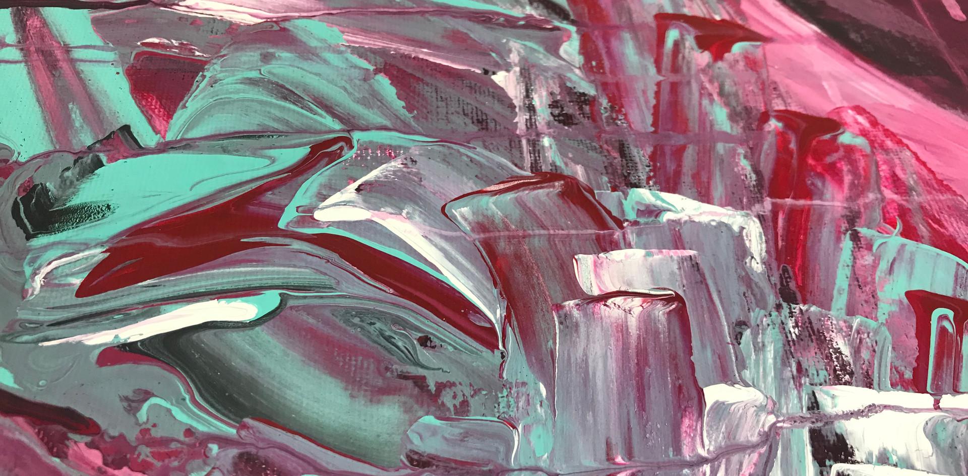 """Abstract Three"". 2019. Acrylic on Canvas. 8"" X 12""."
