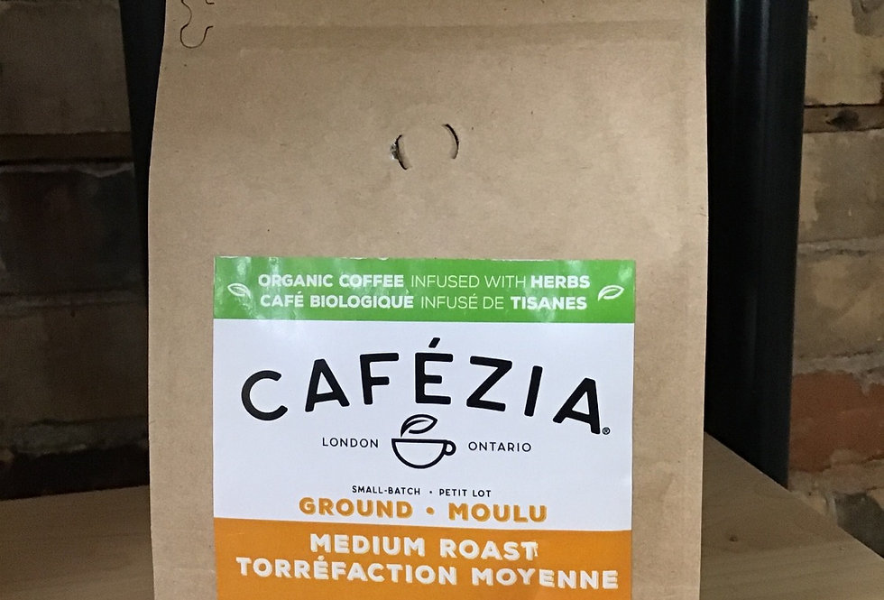 Cafezia Coffee Infused with herbs, ground - 340g med roast