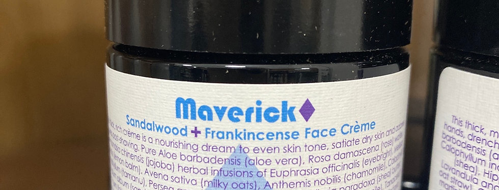 Maverick Sandalwood and Frankincense Face Cream
