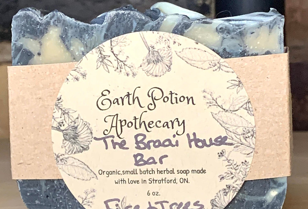 "Earth Potion Apothecary ""Braai House Bar"" Fire and Trees"