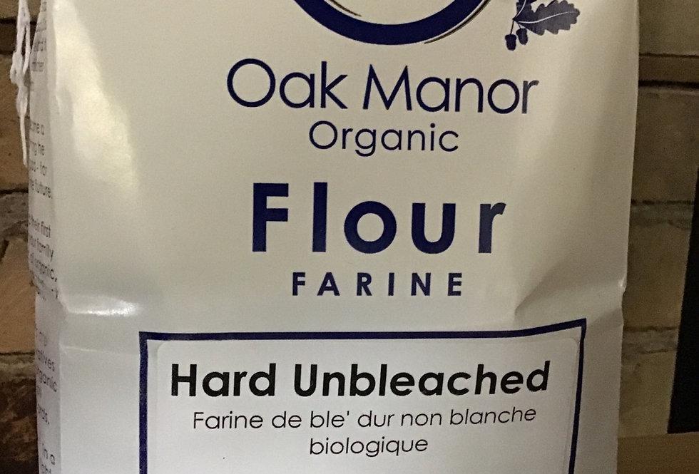 Organic Unbleached Hard Flour - Oak Manor - 1.25 kg