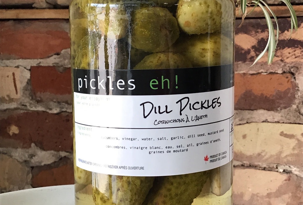 Pickles eh! Dill pickles