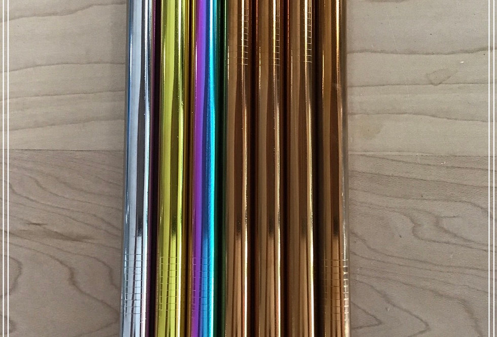Stainless Steel Smoothie (wide) Straws