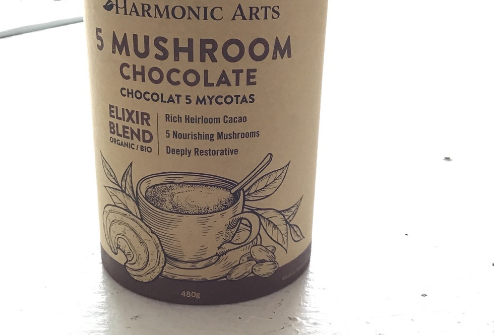 5 Mushroom Chocolate: Harmonic Arts Elixir -(480g)