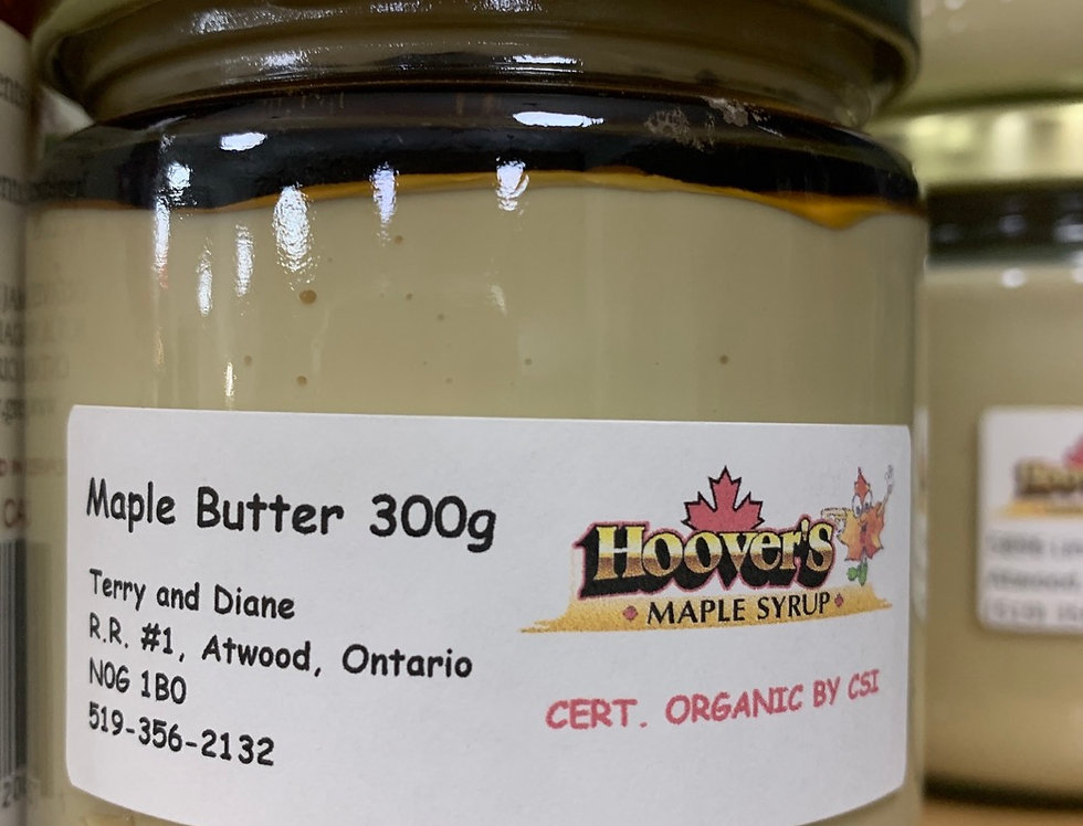 Organic Maple Butter - Hoover's