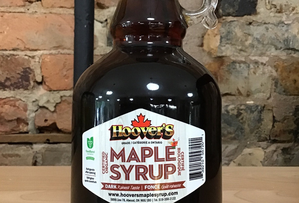 Hoovers Organic Maple Syrup - 500mL Glass Jar