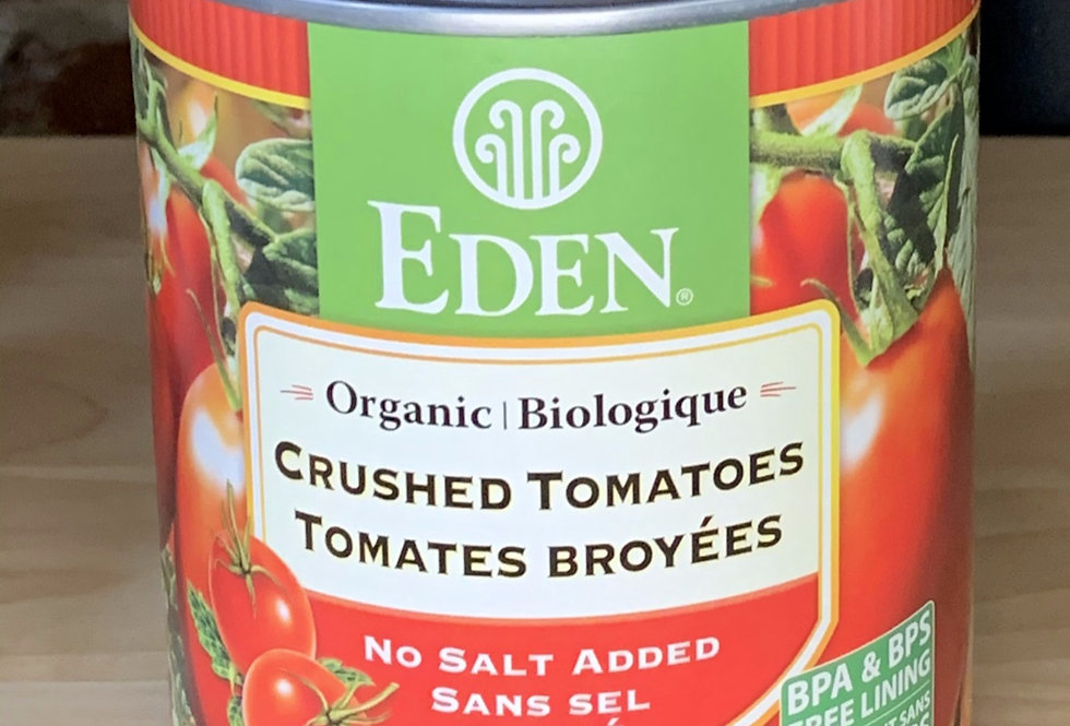 Eden Organic Crushed Tomatoes- No salt added