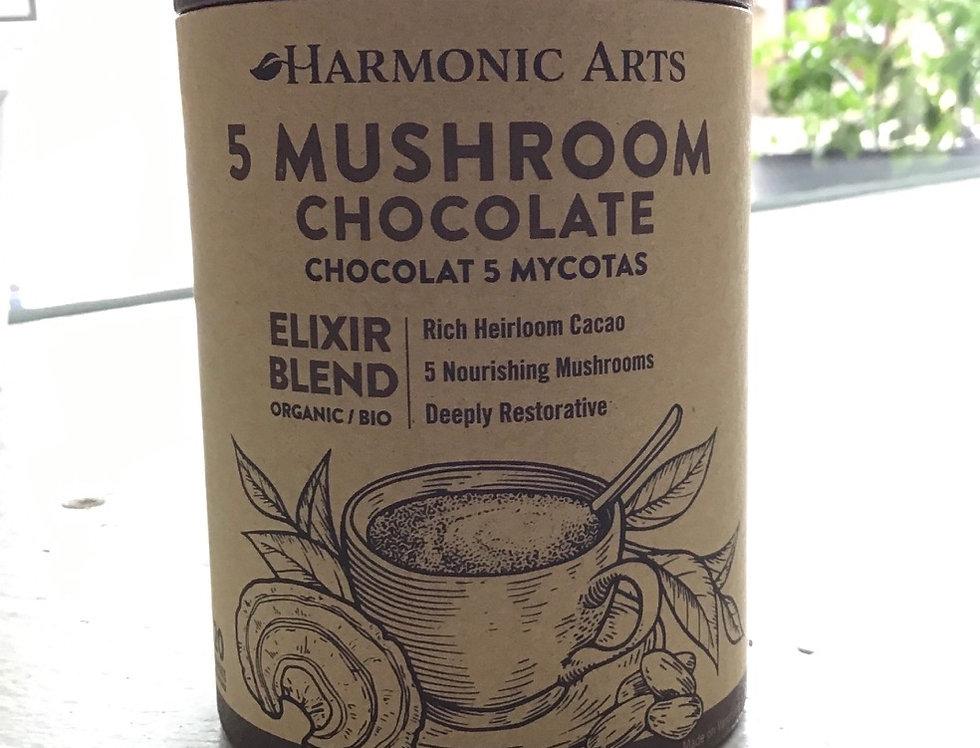 5 Mushroom Chocolate: Harmonic Arts Elixir - (160g)