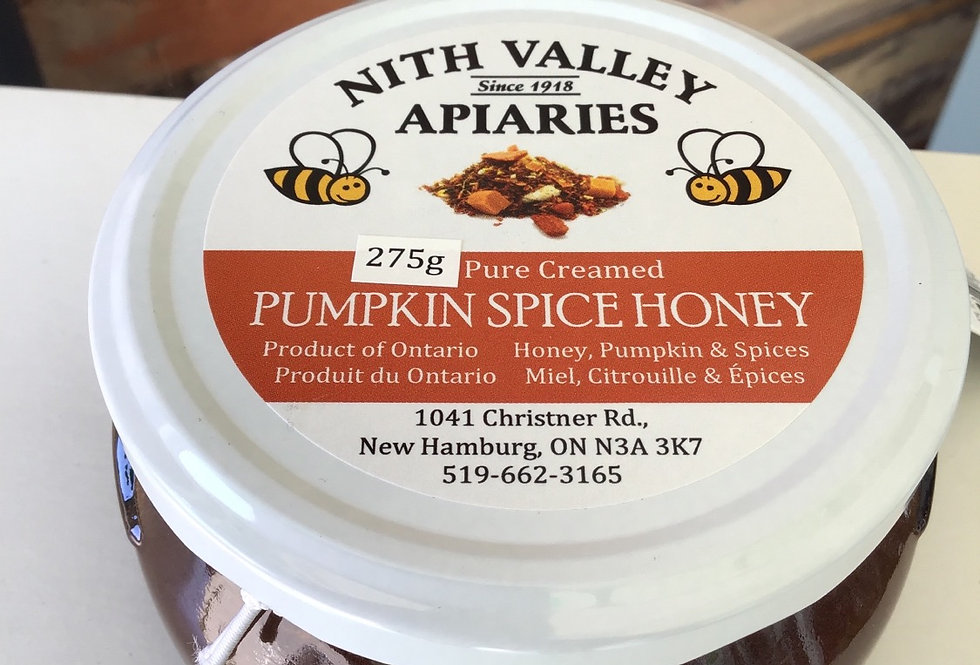Creamed Pumpkin Spiced Honey, Nith Valley Apiaries