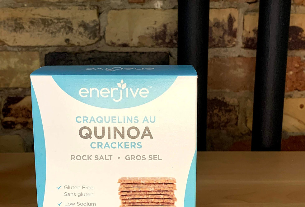 Enerjive Gluten Free Quinoa Crackers - Rock Salt