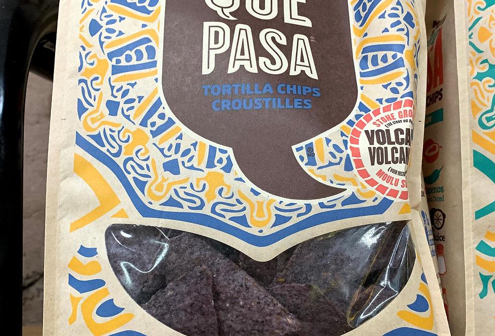 Organic Que Pasa Tortilla Chips - Blue Corn