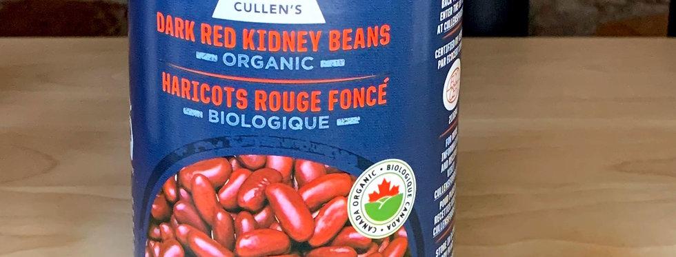 Cullen's Organic Dark Red Kidney Beans (Ontario)
