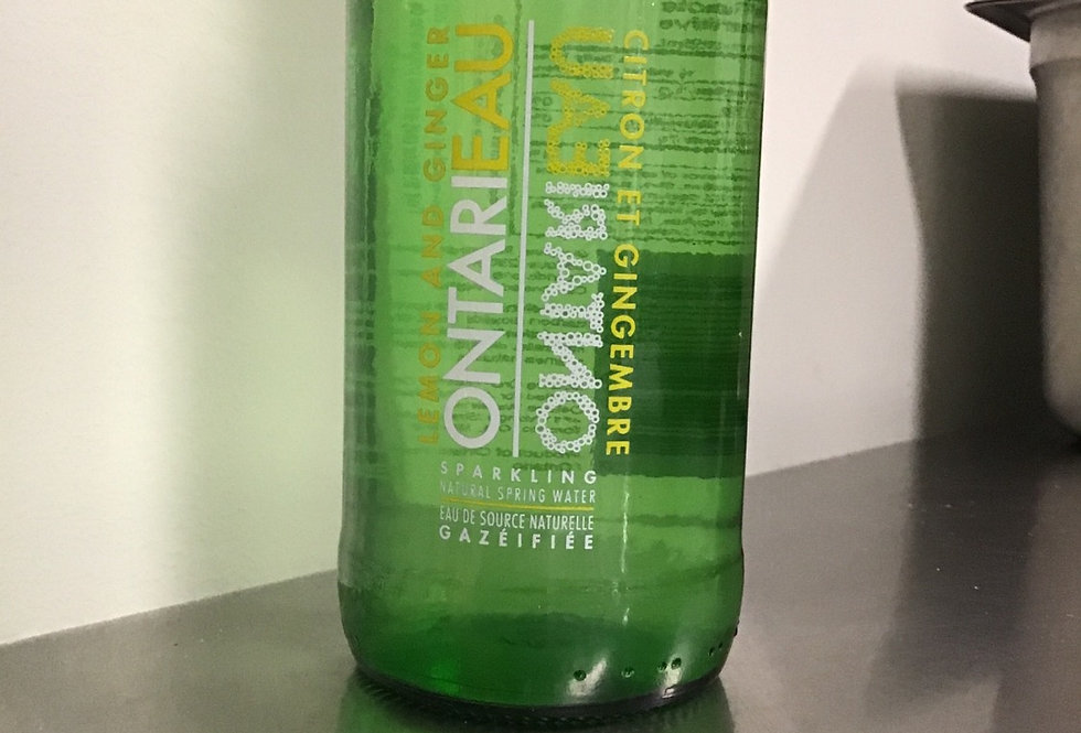 Ontarieau Sparkling Natural Spring Water - 355 ml lemon ginger