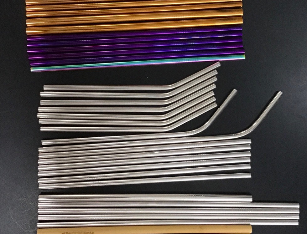 Stainless Steel and Wooden Straws