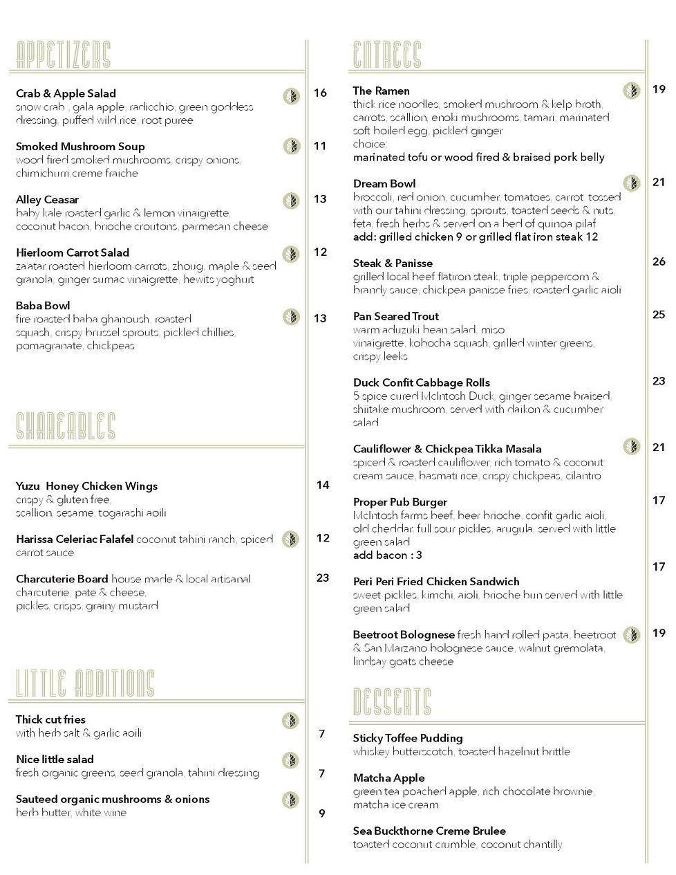The Alley lunch Menu Inside -page-001.jp