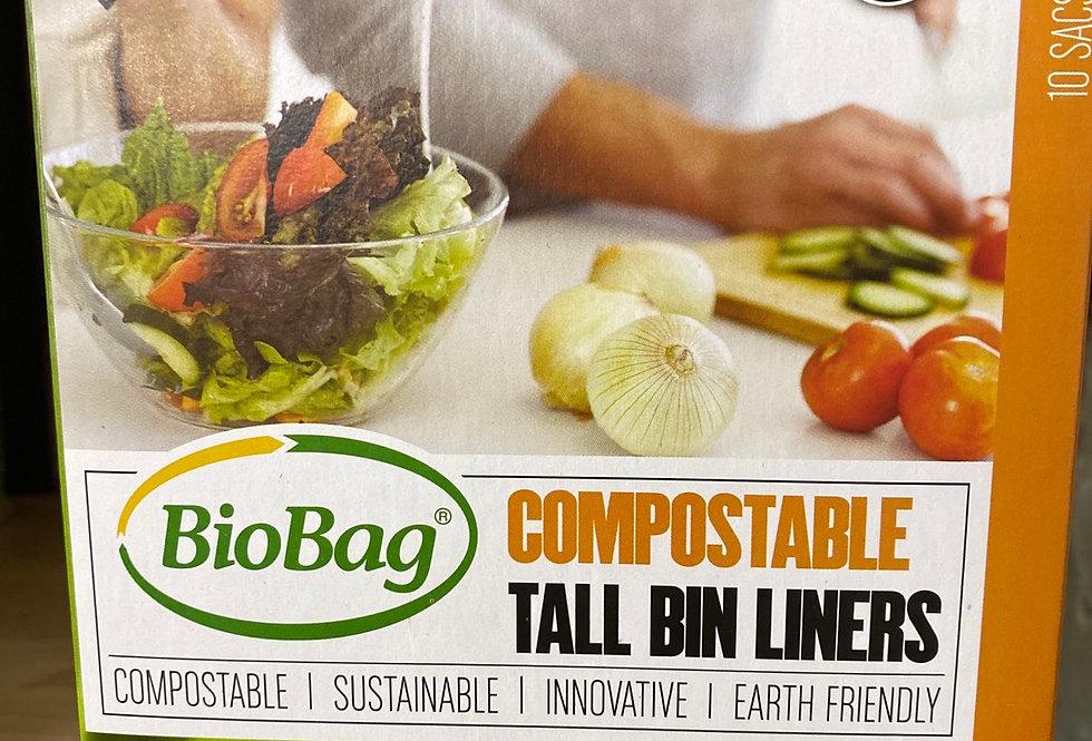 BioBag Compostable 35L tall bin liners (green bin liner)