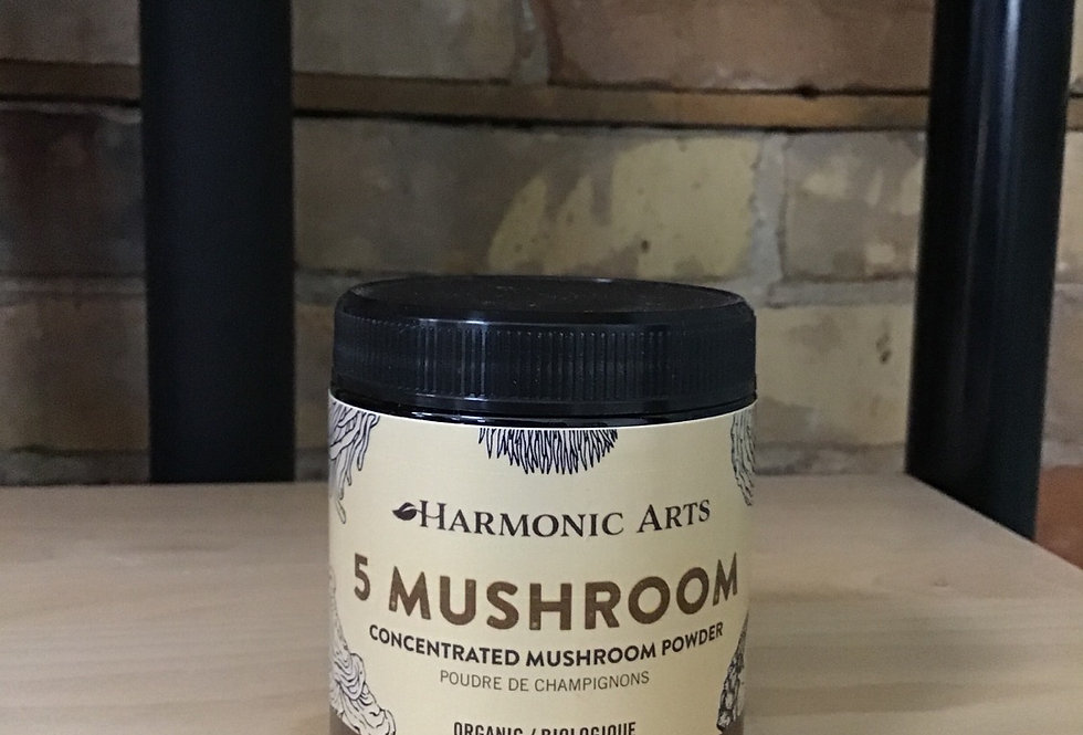 5 Mushroom Powder, Harmonic Arts Elixir - (45 g)