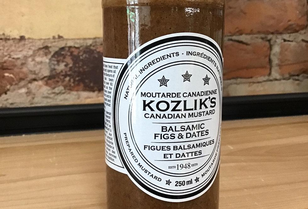 Kozlik's Balsamic Figs & Date Mustard