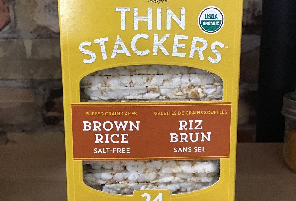 Brown Rice salt-free Thin Stackers