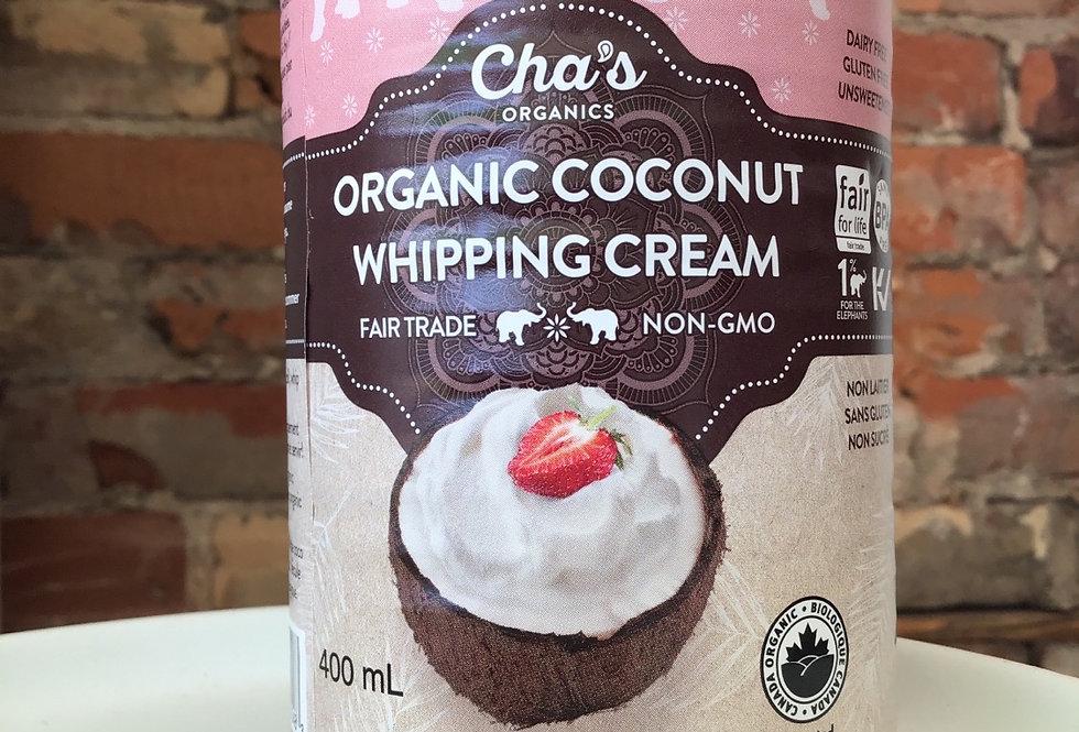 Cha's Organic Coconut Whipping Cream
