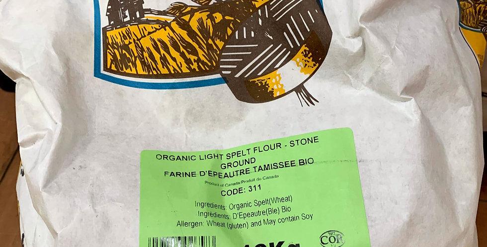 Organic Light Spelt Flour Stone Ground - 10kg