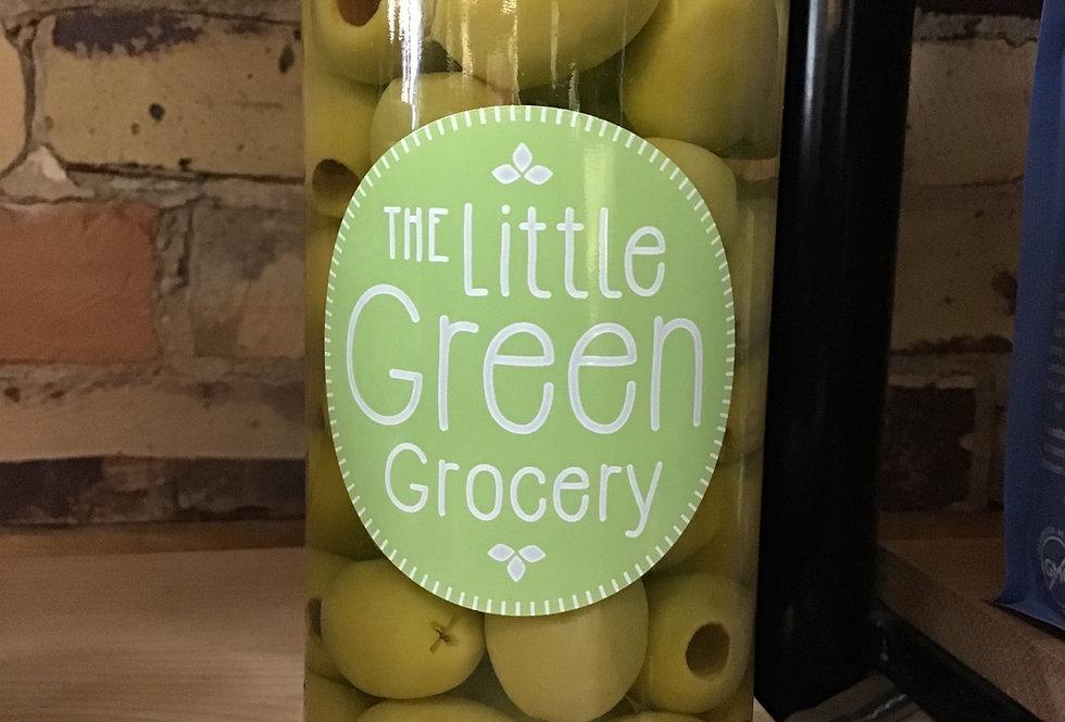 Green olives, 500ML (price includes $2 jar deposit)