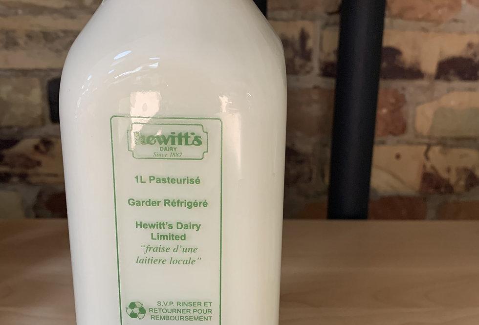 Hewitt's 3.25% Milk-PRICE INCLUDES BOTTLE DEPOSIT