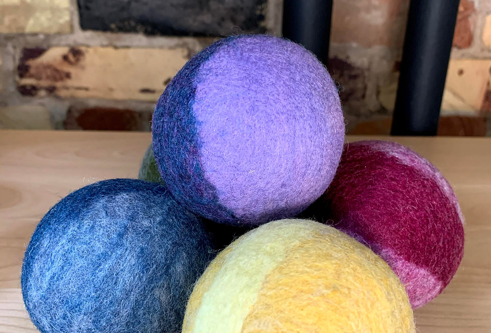 Dryer Balls made with recycled wool sweaters