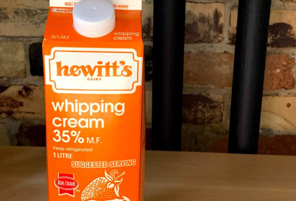 Hewitt's Whipping Cream 35%, 1L