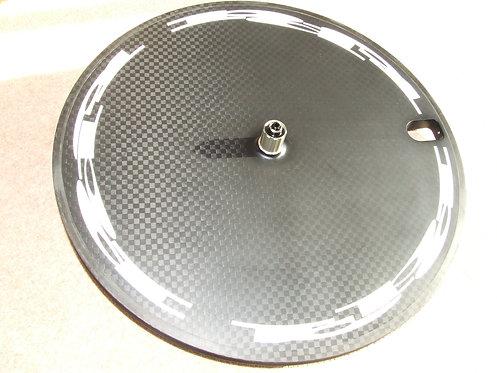 Disc wheel white logos