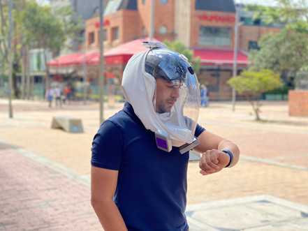Electrical mask papr
