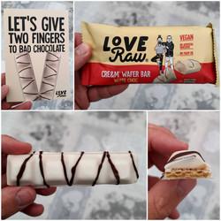Love Raw White Choc Cream Wafer Bar