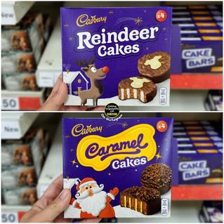 Cadbury Reindeer and Caramel Festive Cak