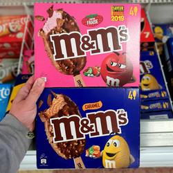 M&M's Ice Cream Strawberry and Caramel