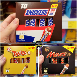 Twix, Mars and Snickers 99Kcal or Below