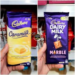 Cadbury Caramilk and Marble Share Bars