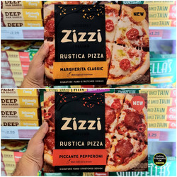 Zizzi Margherita and Rustica Pizzas Sain