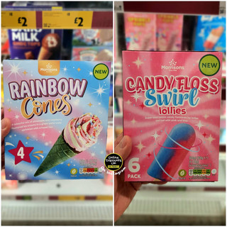 Morrisons Rainbow Cones and Candyfloss S
