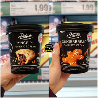 Lidl Mince Pie and Gingerbread Ice Cream