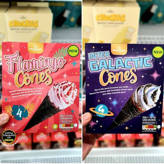 Morrisons Flamingo Cones and Inter Galac
